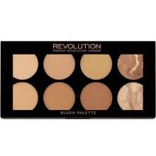 Makeup Revolution Blush Palette Bronze Palette All About Bronze 13g, napigmentowane bronzery