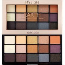 Makeup Revolution My Sign Earth, 15 łatwych w blendowaniu cieni do powiek