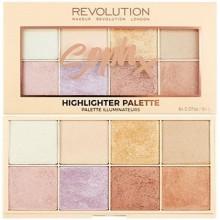 Makeup Revolution Soph X Highlighter Palette, 8 odcieni rozświetlaczy
