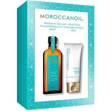 MoroccanOil Duo Soften & Shine, kuracja 125ml i krem do rąk 75ml