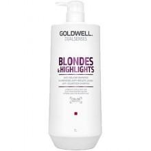Goldwell Blondes Highlights, szampon regenerujący po zabiegu rozjaśniania 1000ml
