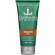Clubman  BROWN GEL zel maskujący siwe włosy dla mężczyzn 89ml
