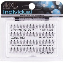 Ardell Naturals COMBO BLAC Kępki  KnotFree do podkreślenia makijażu oka