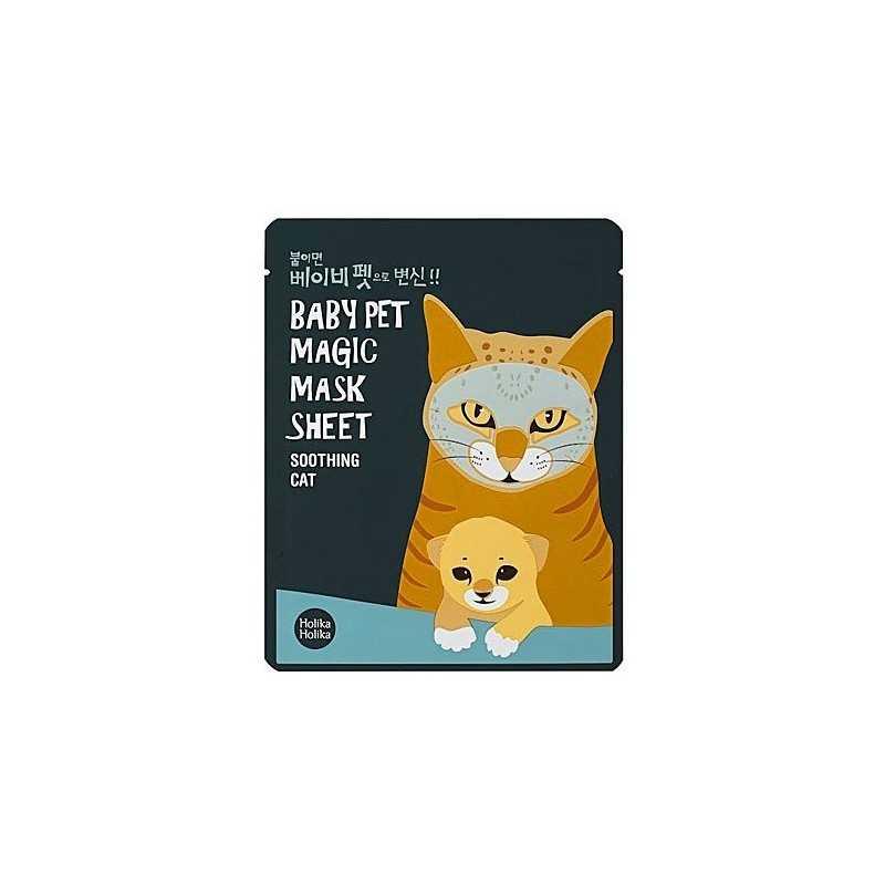 Holika Holika Baby Pet Magic Mask Sheet Soothing Cat 1szt, maseczka