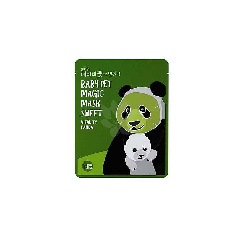 Holika Holika Baby Pet Magic Mask Sheet Vitality Panda 1szt, maseczka