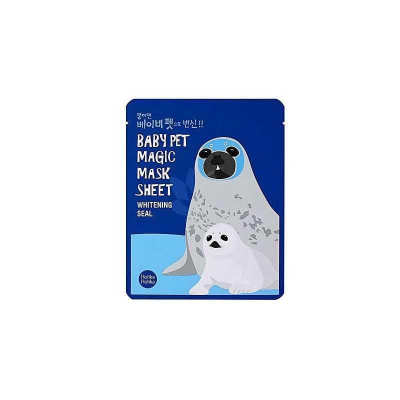 Holika Holika Baby Pet MagicMask Sheet Whitening Seal 1szt, maseczka