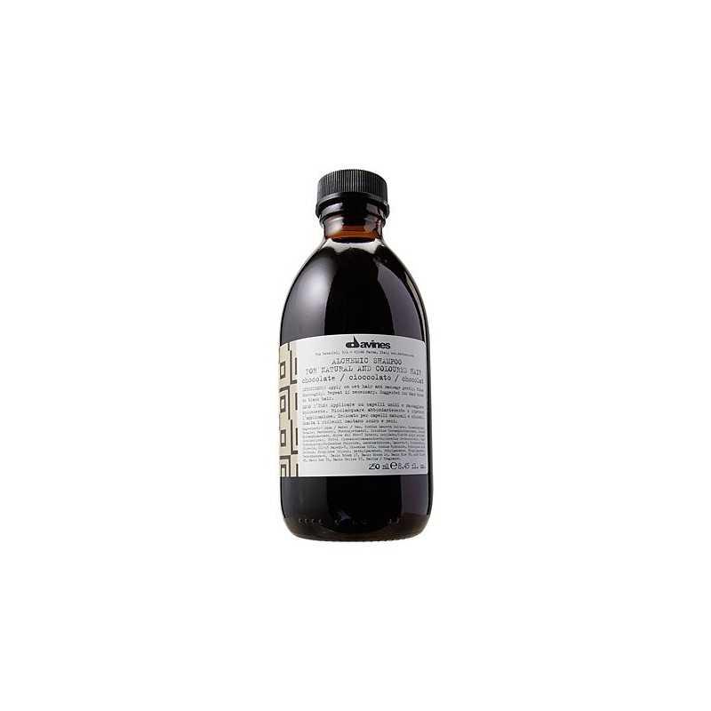 Davines Alchemic Chocolate, szampon do włosów ciemno brązowych i czarnych 280ml