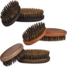 Kartacz do brody z twardym, wzmocnionym włosiem dzika, mały i poręczny